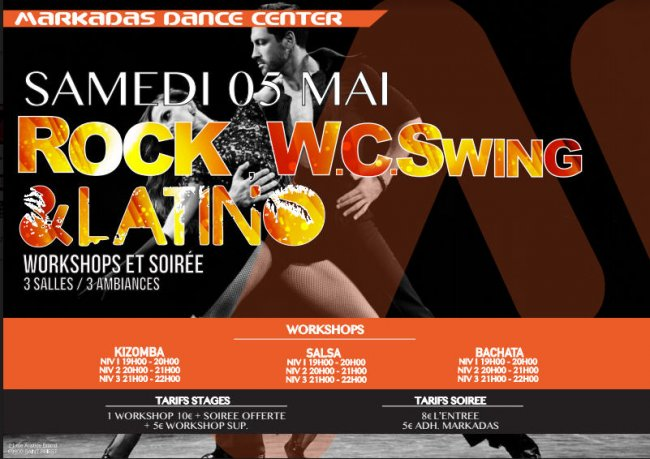Flyer Soirée ROCK WEST COAST SWING & LATINO