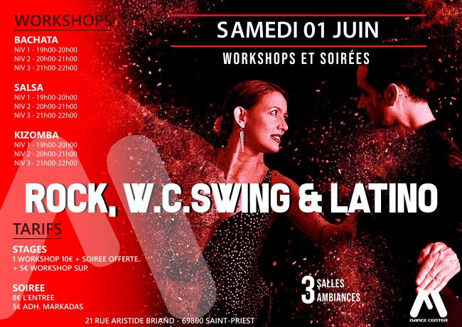 Flyer ROCK SWING & LATINO du mois de Juin !!