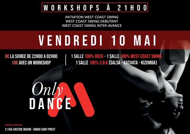 Flyer ONLY DANCE du mois de Mai