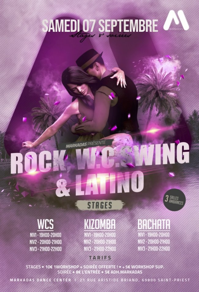 Flyer 1ère Rock Swing & Latino de la saison 2019/2020 !