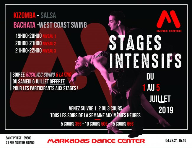 Flyer Semaine de STAGES INTENSIFS