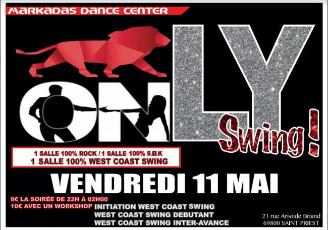 Flyer Only Swing du mois de mai
